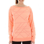 Xersion™ Long-Sleeve Burnout Sweatshirt - Tall