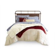JCPenney Home™ Ultra Faux-Mink And Sherpa Comforter