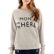 MNG by Mango® Long-Sleeve Mon Chéri Sweatshirt