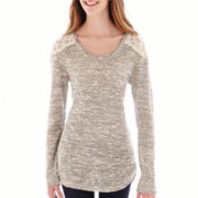 Arizona Long-Sleeve Lace-Shoulder Hatchi Sweater