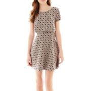 City Triangles® Short-Sleeve Crop-Top Dress