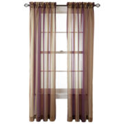 Royal Velvet® Kingston Stripe Rod-Pocket Sheer Panel