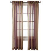 Royal Velvet® Kingston Stripe Rod-Pocket Sheer Panel