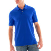 St. John's Bay® Legacy Solid Piqué Polo Shirt