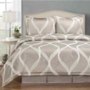 Wave 4-pc. Jacquard Comforter Set