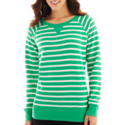 Made For Life™ Long-Sleeve French Terry Striped Sweatshirt