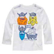 Okie Dokie® Long-Sleeve Graphic Knit Tee – Boys 2t-6