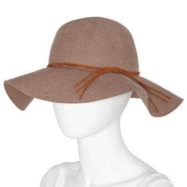 jcpenney.com | Manhattan Hat Company® Wool Felt Floppy Hat with Suede Twisted Band