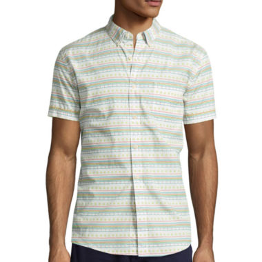 jcpenney.com | Arizona Short-Sleeve Printed Poplin Shirt