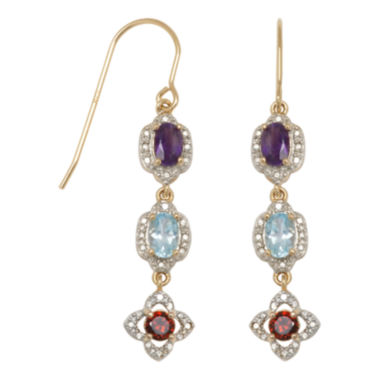jcpenney.com | Classic Treasures™ Multicolored Stone Drop Earrings