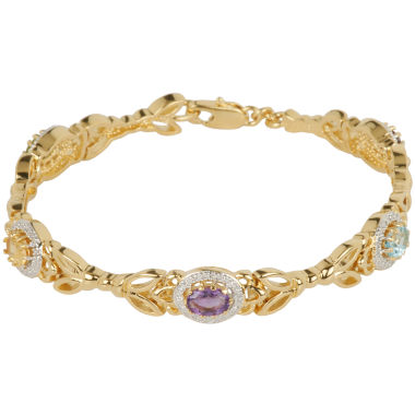 jcpenney.com | Classic Treasures™ Multi-Stone 18K Gold Over Brass Bracelet