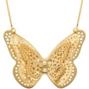 Butterfly Necklace 10K Gold