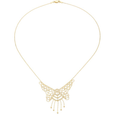 jcpenney.com | Beaded Butterfly Necklace 10K Gold