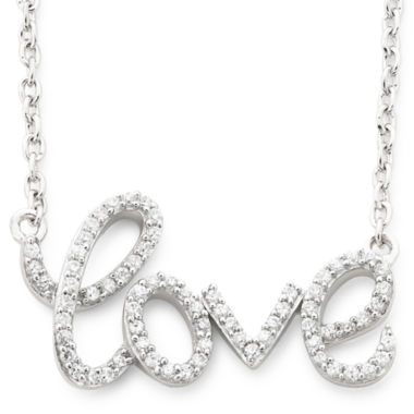jcpenney.com | 1/5 Ct. T.W. Diamond Love Necklace Sterling Silver