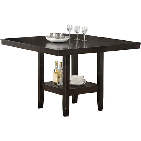 "Tabacon 50"" Counter Height Square Dining Table with Wine Storage"