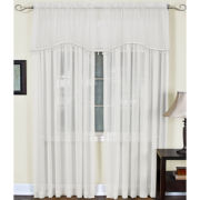 Mystic Rod-Pocket Sheer Arch Valance
