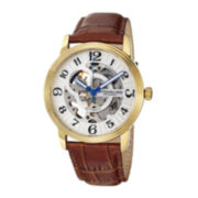 Stührling® Mens Gold-Tone Stainless Steel Automatic Watch