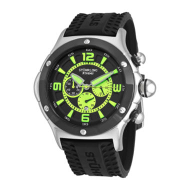 jcpenney.com | Stührling® Original Mens Silicone Strap Green Accent Chronograph Watch