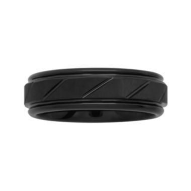 jcpenney.com |  Men's 7mm Comfort Fit Grooved Tungsten Wedding Band
