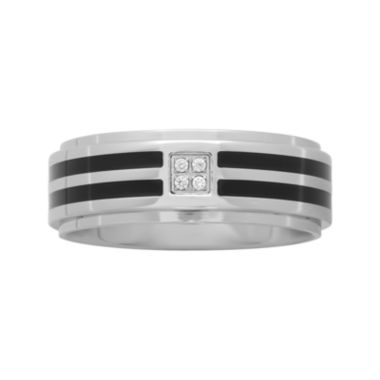 jcpenney.com |  Men's Diamond-Accent Comfort Fit Two-Tone Wedding Band