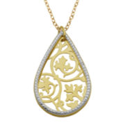 Diamond-Accent Teardrop Pendant