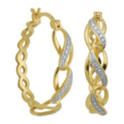 Diamond-Accent Infinity-Link Hoop Earrings