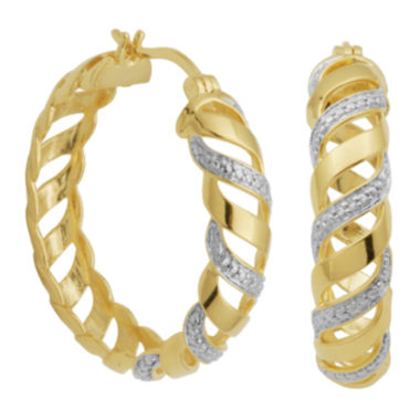 jcpenney.com | Diamond-Accent San Marco Hoop Earrings