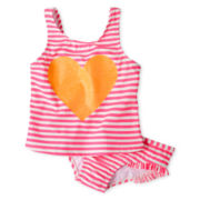Carter's® Pink Striped 2-pc. Swimsuit - Girls 3m-4t