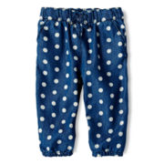 Joe Fresh™ Printed Denim Pants - Girls 3m-24m