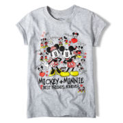 Disney Mickey and Minnie Best Friends Graphic Tee - Girls 2-10