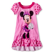 Disney Collection Pink Minnie Mouse Nightgown - Girls 2-10