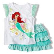 Disney Ariel Skirt Set - Girls 2-10