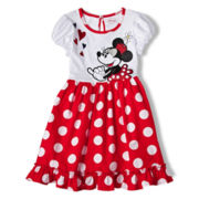 Disney Red Minnie Mouse Dress - Girls 2-10