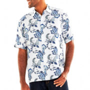 The Havanera Co.® Paisley Floral Button-Front Shirt