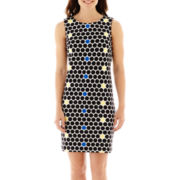 Worthington® Sleeveless Polka Dot Sheath Dress
