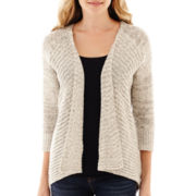 Stylus™ 3/4-Sleeve Flyaway Marled Cardigan Sweater