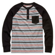 Arizona Long-Sleeve Knit Henley Tee – Boys 6-18