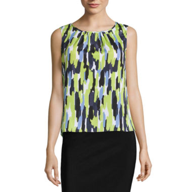 jcpenney.com | Black Label by Evan-Picone Sleeveless Pleat Neck Blouse
