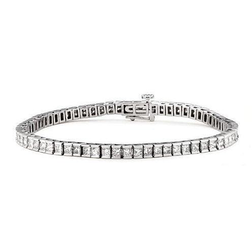 Womens 3 1/4 CT. T.W. White Diamond 14K Gold Tennis Bracelet