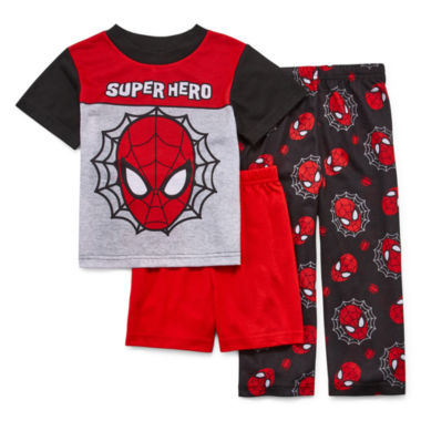 jcpenney.com | Boys 3-pc. Long Sleeve Marvel Kids Pajama Set-Toddler