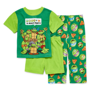 jcpenney.com | Boys 3-pc. Short Sleeve Teenage Mutant Ninja Turtles Kids Pajama Set-Toddler