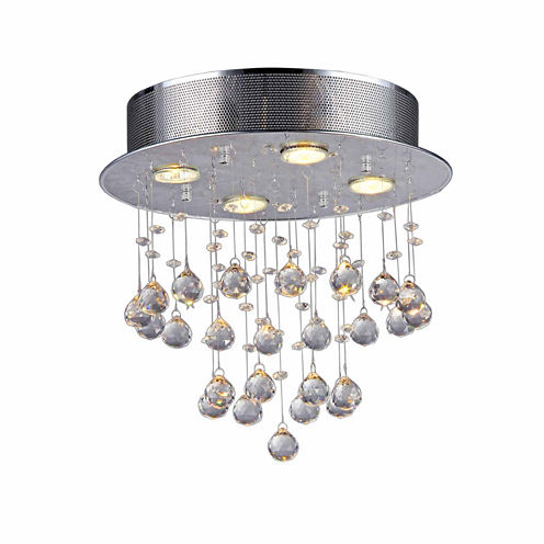 Warehouse Of Tiffany Marks Crystal 4-light ChromeChandelier