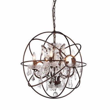 jcpenney.com | Warehouse Of Tiffany Warehouse of Tiffany Planetshaker Antique Bronze Spherical Chandelier