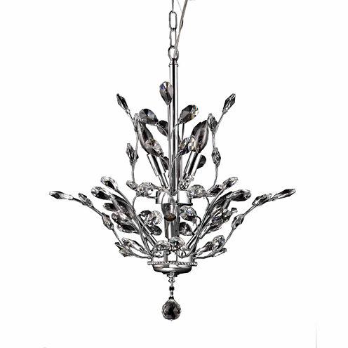 Warehouse Of Tiffany Leah 8-light Chrome Leaf-likeCrystal Chandelier