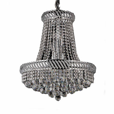 jcpenney.com | Warehouse Of Tiffany Chelsea 8-light Crystal 16-inch Chrome Chandelier