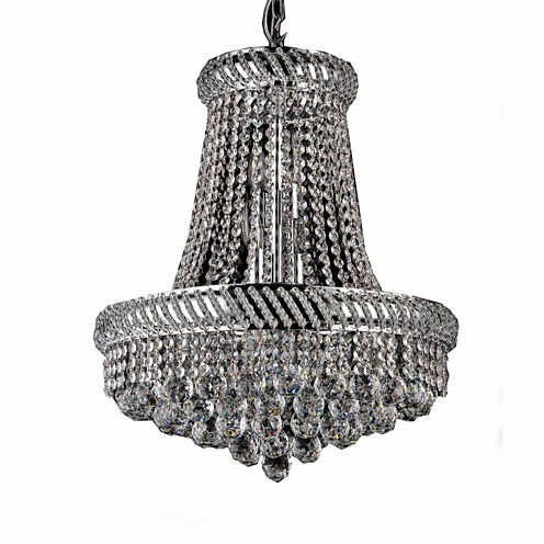 Warehouse Of Tiffany Chelsea 8-light Crystal 16-inch Chrome Chandelier