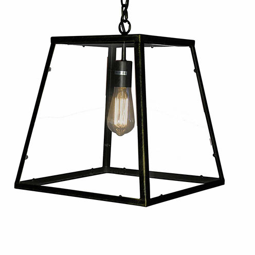 Warehouse Of Tiffany Minerva 1-light Black EdisonLamp with Bulb