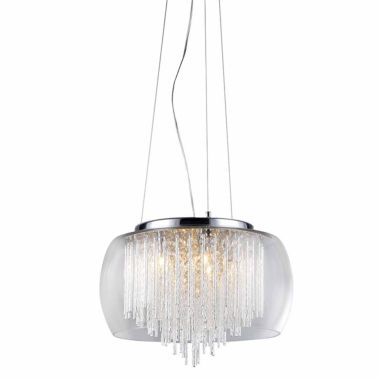 jcpenney.com | Warehouse Of Tiffany Odysseus' Chrome and Crystal5-light Chandelier