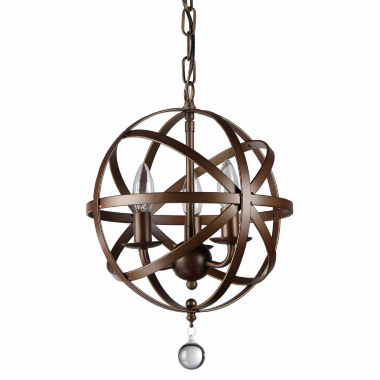 jcpenney.com | Warehouse Of Tiffany Riza 3-light Antique Bronze 12-inch Crystal Chandelier