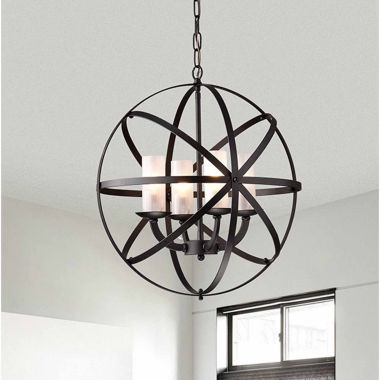 jcpenney.com | Warehouse Of Tiffany Mandisa 4-light Black-finish18-inch Chandelier